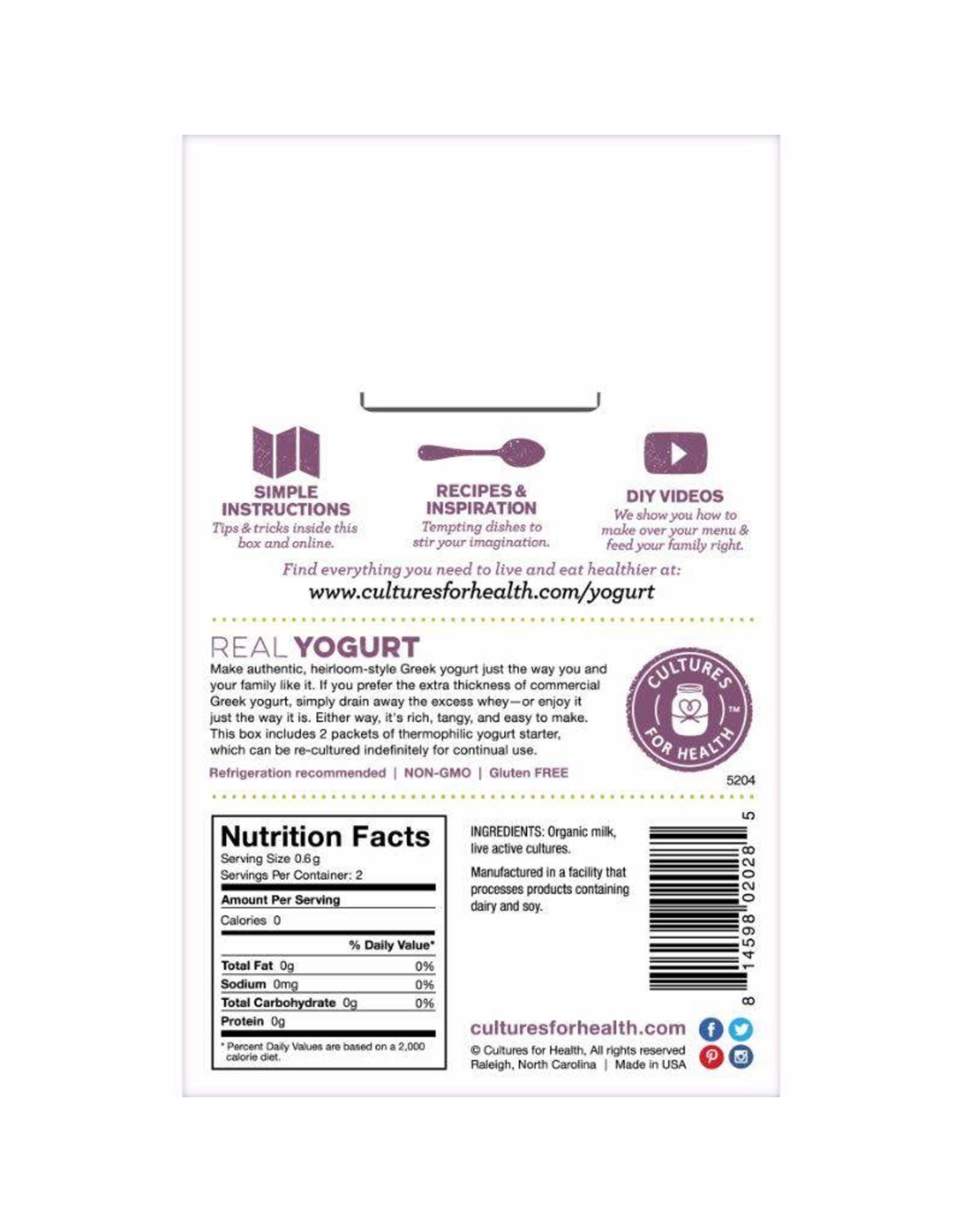 Yogurt (Greek) Starter Culture (Cultures for Health)