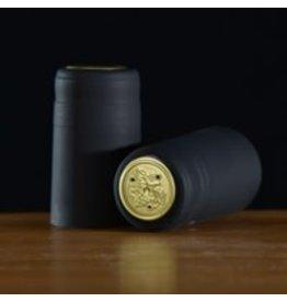 PVC Black Matte Shrink/Capsule 500ct