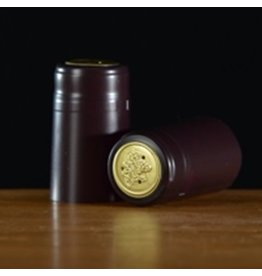 PVC Burgundy Matte Shrink/Capsule 500ct