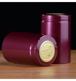 PVC Burgundy Shiny Shrink/Capsule 500ct