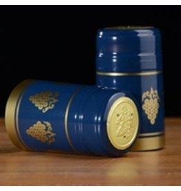 PVC Blue w/Gold Grapes Shrink/Capsule 500ct