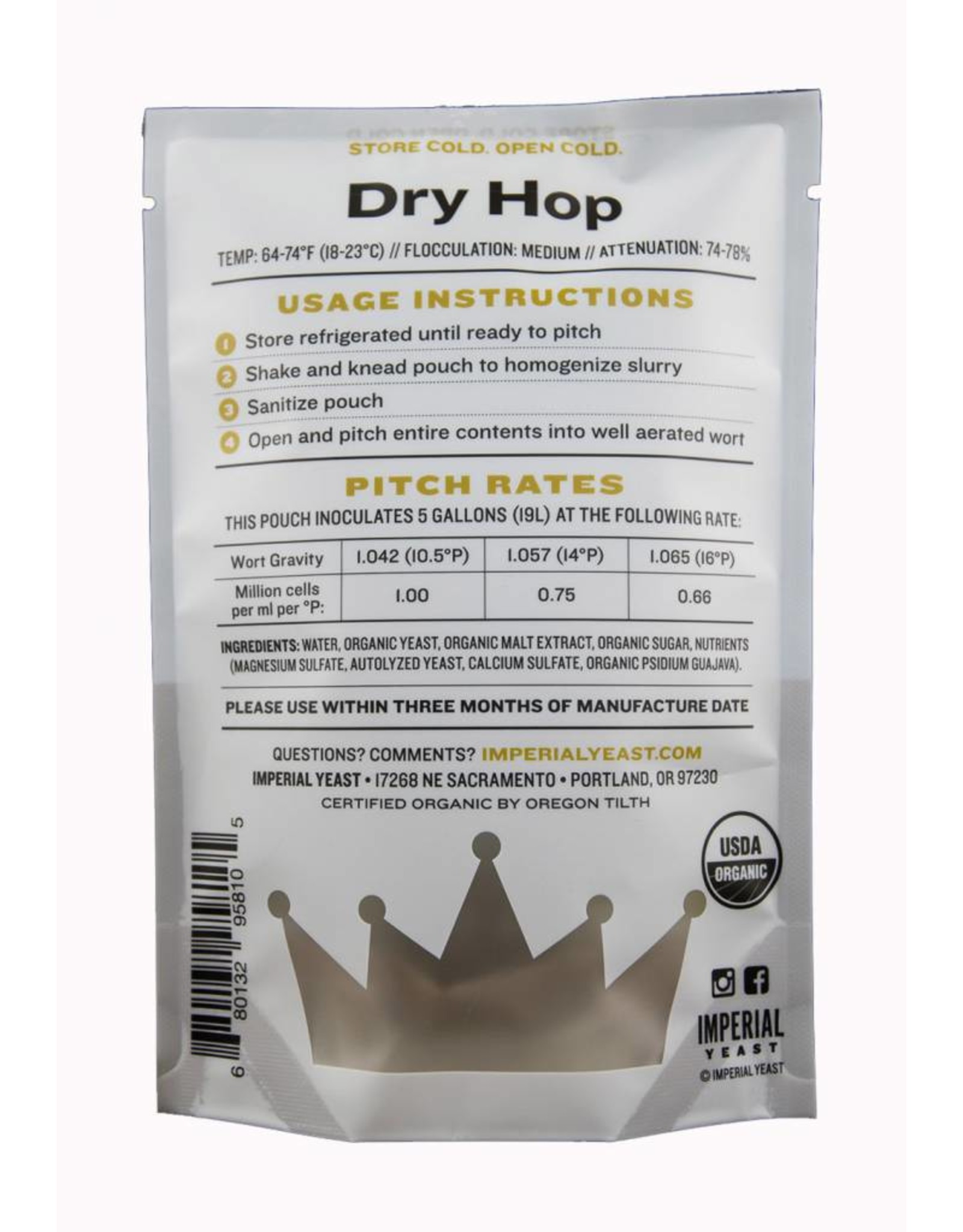Imperial Yeast Imperial Yeast A24 - Dry Hop
