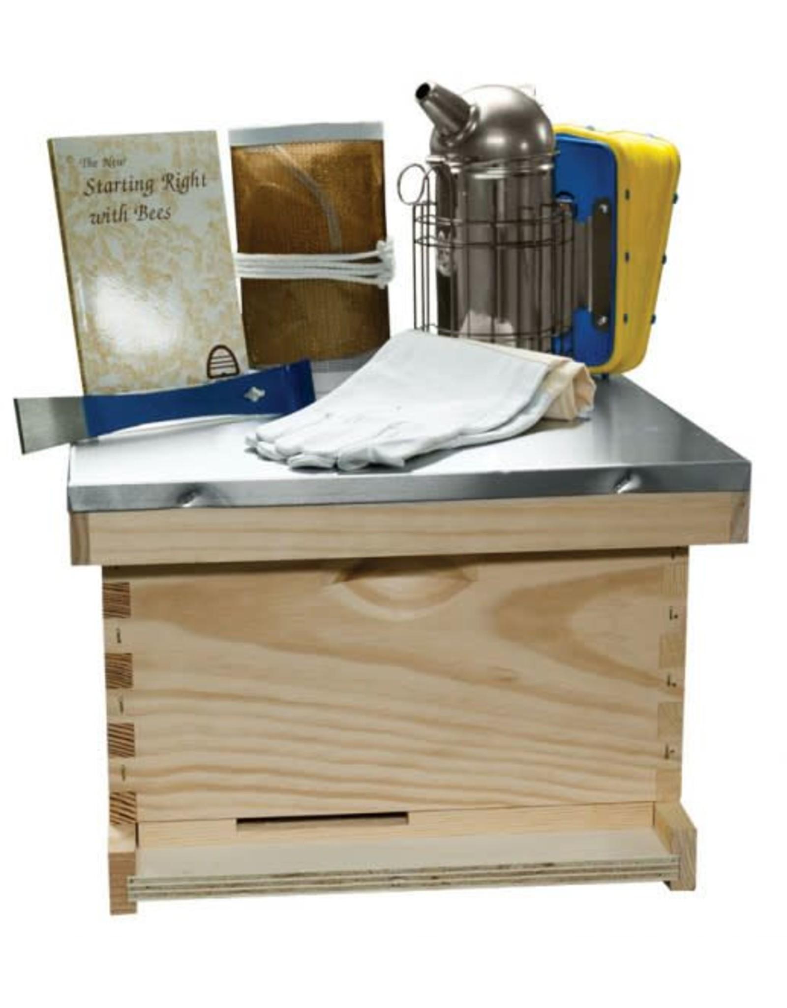 Beeginner 10 Frame 9 5/8'' (24.45 cm) Traditional Basic Starter Kit - Wood Frames