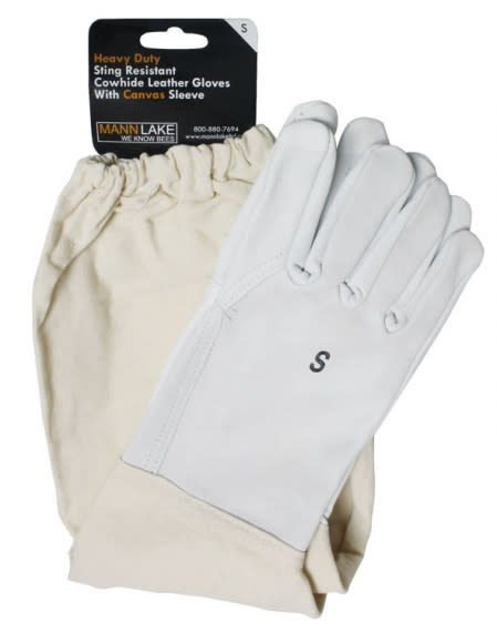 Economy Cowhide Leather Gloves - Small
