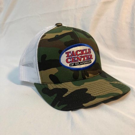 Tackle Center Hat Camo/White Mesh with Snap