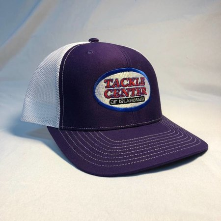 Tackle Center Hat Purple/White Mesh