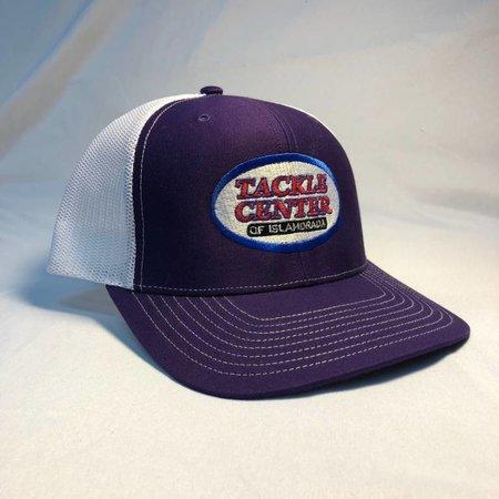 Tackle Center Hat Purple/White Mesh