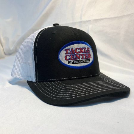 Tackle Center Hat Black/White Mesh