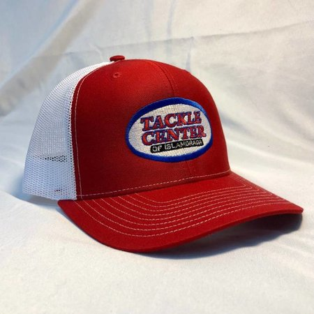 Tackle Center Hat Red/White Mesh with Snap