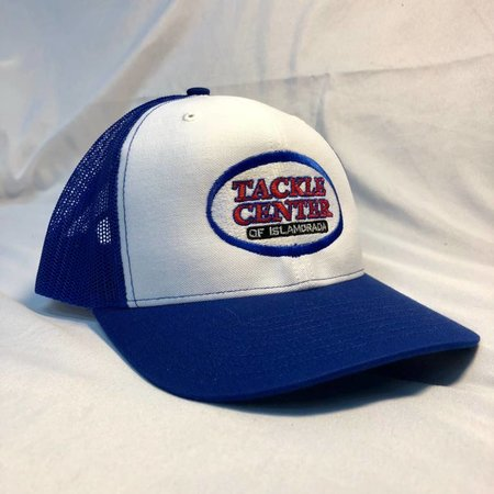 Tackle Center Hat White/Blue Mesh with Snap