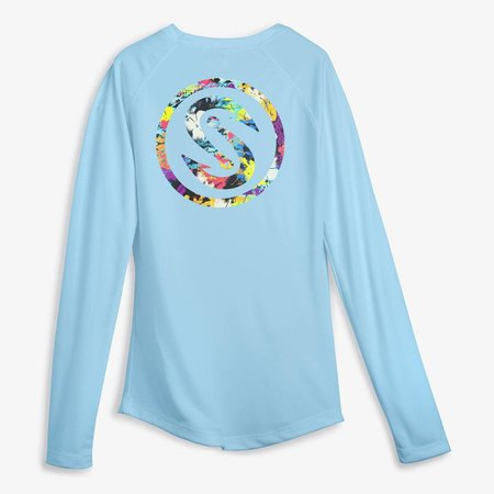 Scales Women's Pro Performance Shirt Light Blue