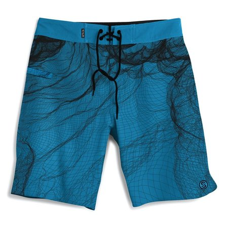 Scales Shorts Cast Net Blue