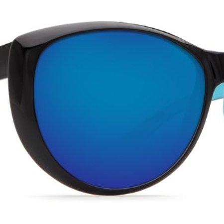 f486f82aca49f Costa del Mar La Mar Blue Mirror 580P Black White Aqua Frame