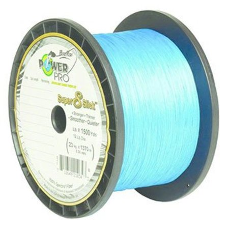 Power Pro Super 8 Slick Braid, 80 lb., 1500 yds., Marine Blue