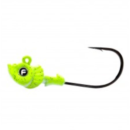 Fathom Offshore Pro-Select Jig Head 1/8oz Chartreuse 4 Pack
