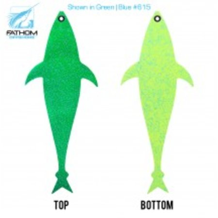"Fathom Offshore Flap Jack Tuna 14"" Green Chartreuse Belly"