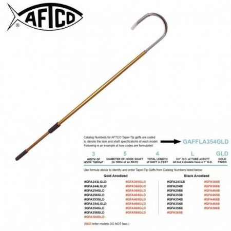 Aftco GFA466GLD Gaff Hook 6'x4