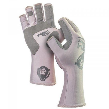 Fish Monkey Gloves Half Finger Guide Glove Lite Grey
