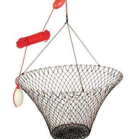 Promar NE-102 Deluxe Hoop Net Rigged w/2-Floats & 100' Rope