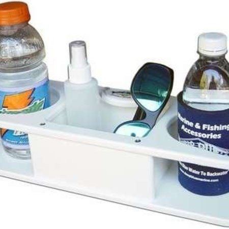 Deep Blue MB-2 Lrg Dbl Drink Holder Polymer w/Med Box Suction Cup