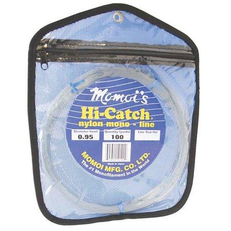 Momoi 01400 Hi-Catch Leader Coil 400Lb 100Yds Clear White
