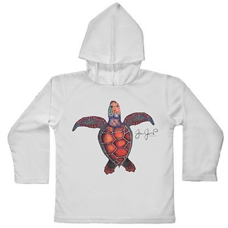 Jessie Jessup Toddler Hooded Rashguard Turtle 2T