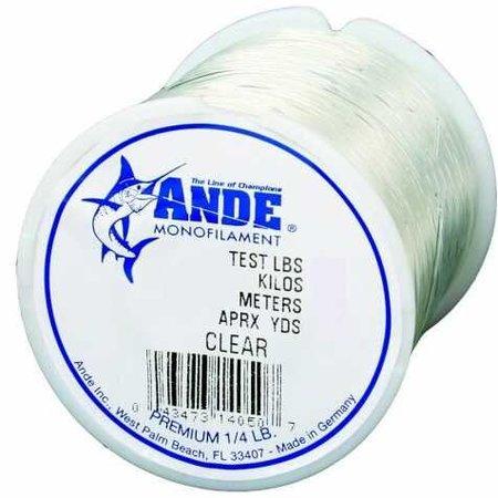 Ande A14-60C Premium Mono 60Lb 200Yds Clear 1/4Lb