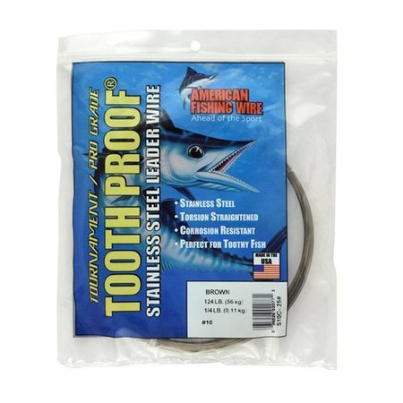AFW 1/4lb #19 Wire Tooth Proof Fishing Leader