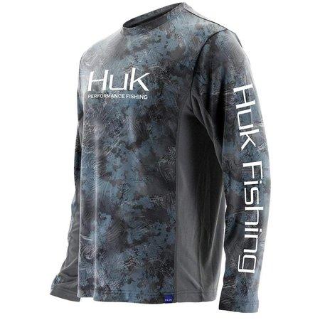 Huk Icon X Camo LS Shirt Subphantis Glacier (095)