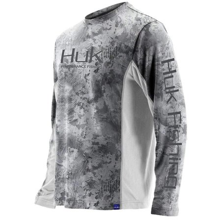 Huk Icon Camo Long Sleeve Shirt White/Gray