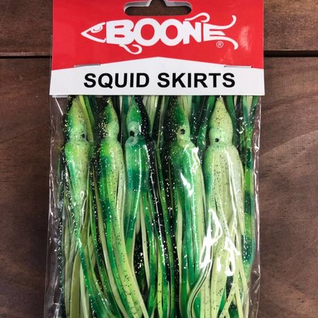 Boone Bait Squid Trolling Skirts 10Pk Dolphin