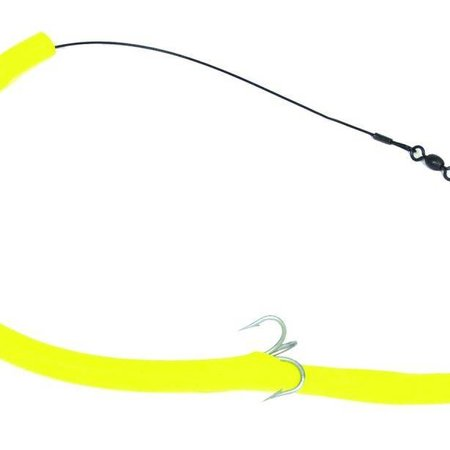 Sea Striker CT12Y Cuda Tube Rig Flourescent Yellow 1 Hook 1Pk