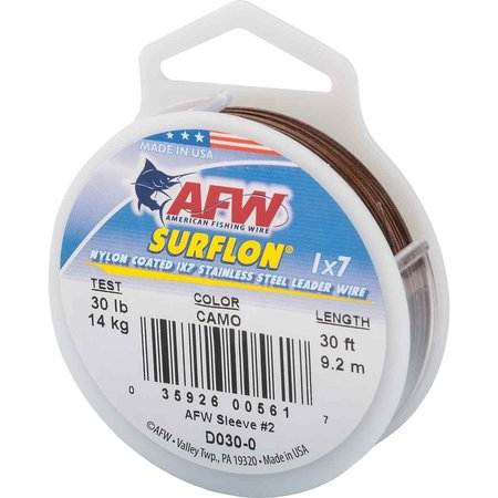 AFW D030-0 30' Surflon Coated Wire Camo Brn