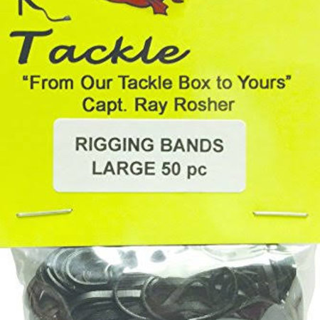 R & R Tackle RBL50 Rigging Band Large 50/Pk Black