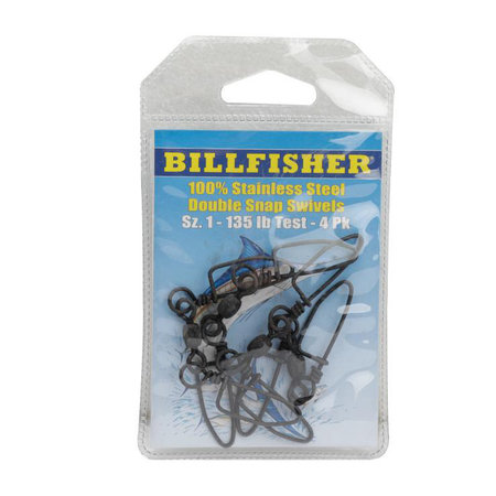 Billfisher Double Snap Swivel 200lb 3pk