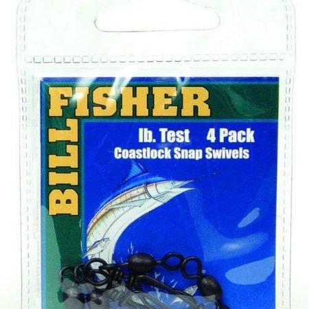 Billfisher BCSS5 Snap Swivel 120lb 4pk