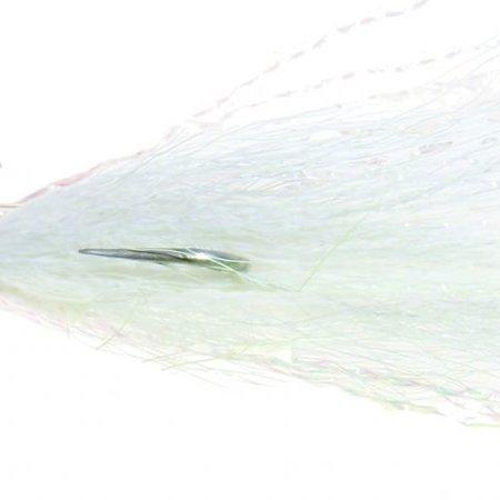 Wahoo WAH-BFB18-1 Bonefish Jig 1/8oz Wht Spec Flat Head Hand-tied Bucktai