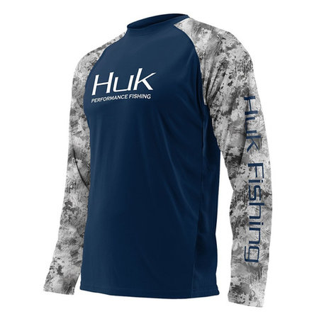 Huk Double Header Performance Shirt Navy