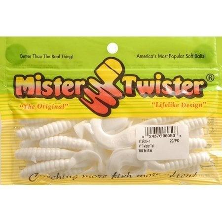 """Mister Twister 4"""" White"""
