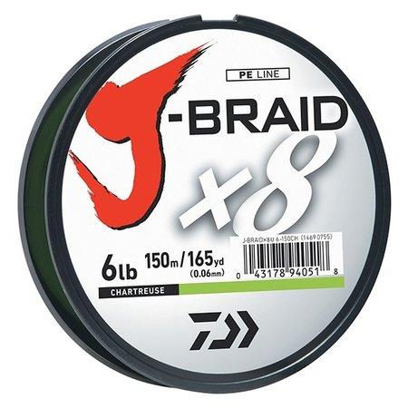 Daiwa J-Braid 8U15-3000 Chartreuse 15lb.