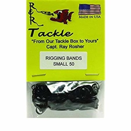 R & R Tackle RBS50 Rigging Band Small 50/Pk Black