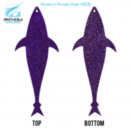 "Fathom Offshore Flap Jack Tuna 10"" Purple Holo"