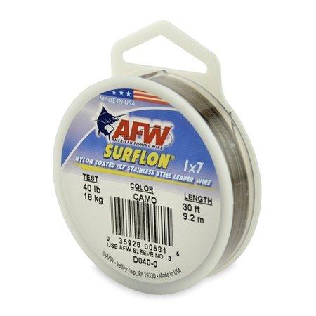 AFW Surflon Nylon Coated Cable Wire 40lb 30'