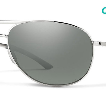 Smith Optics Serpico 2 Silver Frame, Polarized Platinum Lense