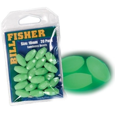 Billfisher OGB-20 Glow Bead 10mm Green 20Pk
