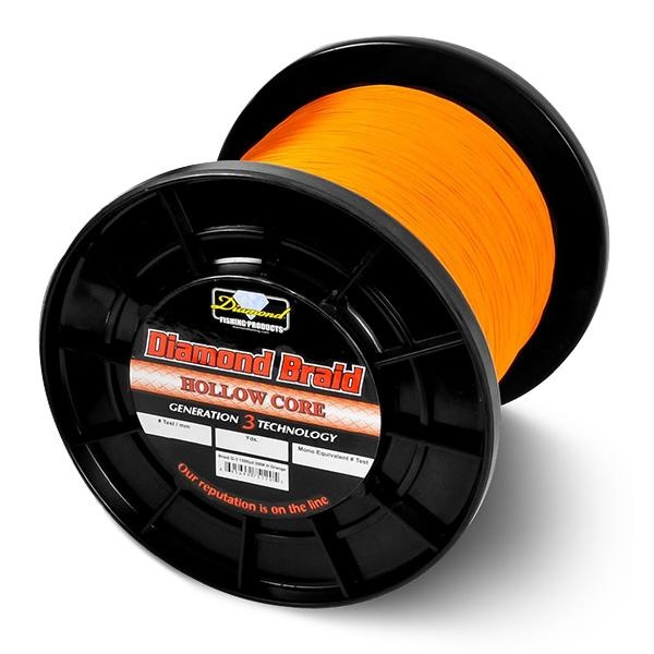 Diamond Hollow Core Orange 130 LB/.52- 600 Yds.
