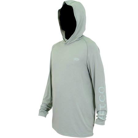 Aftco Samurai 2 AFLEX LS Hooded Shirt Olive Heather