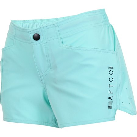 Aftco Aftco Women's Microbyte Fishing Shorts Mint