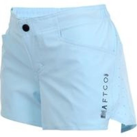 Aftco Women's Microbyte Shorts Sky Blue