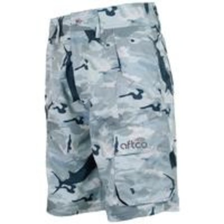 Aftco Tactical Fishing Shorts Grey Camo